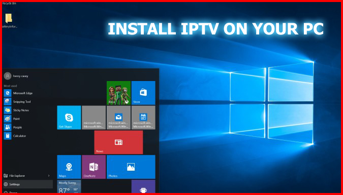 Iptv Player app on windows